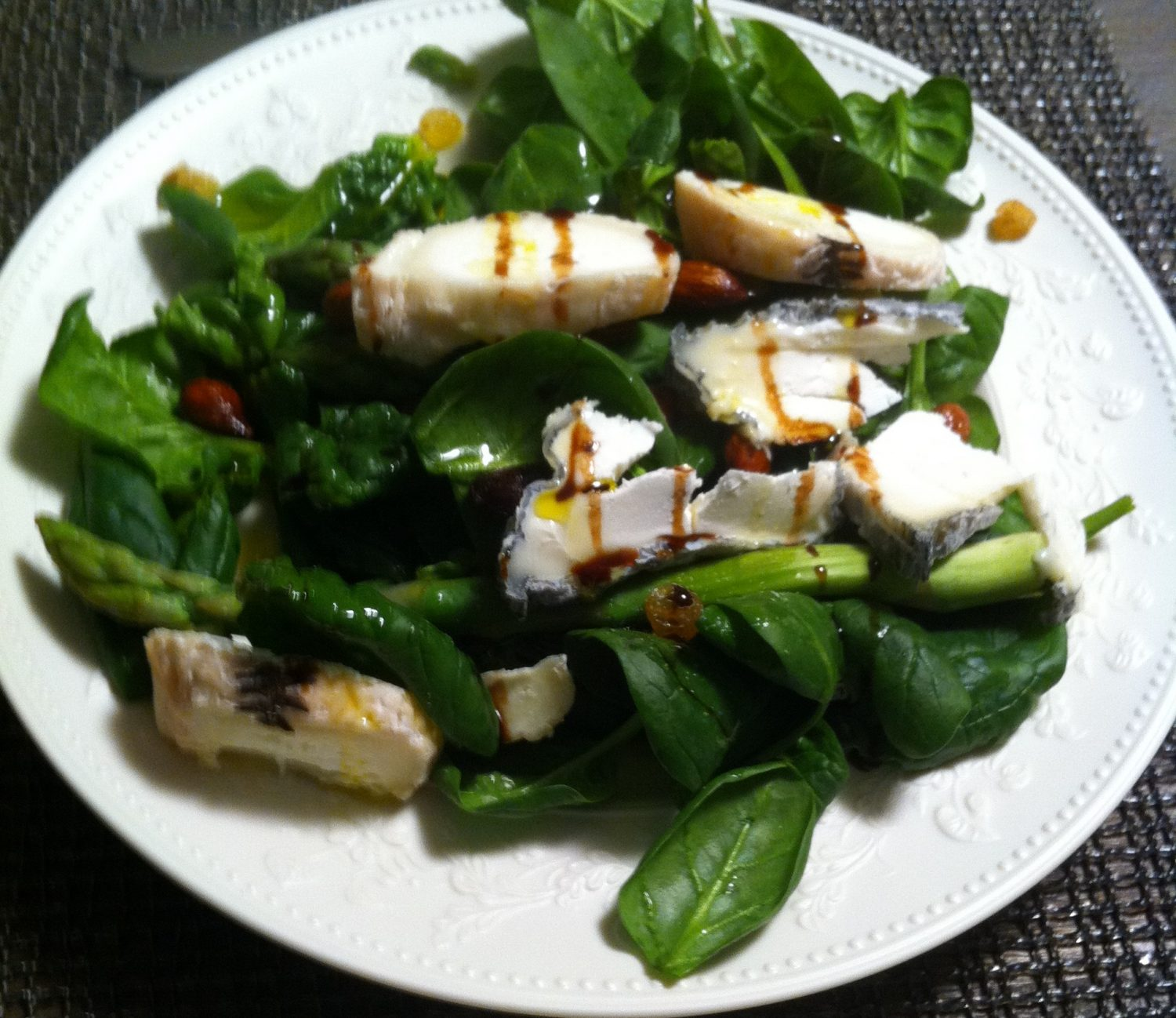 Goat cheese& baby spinach