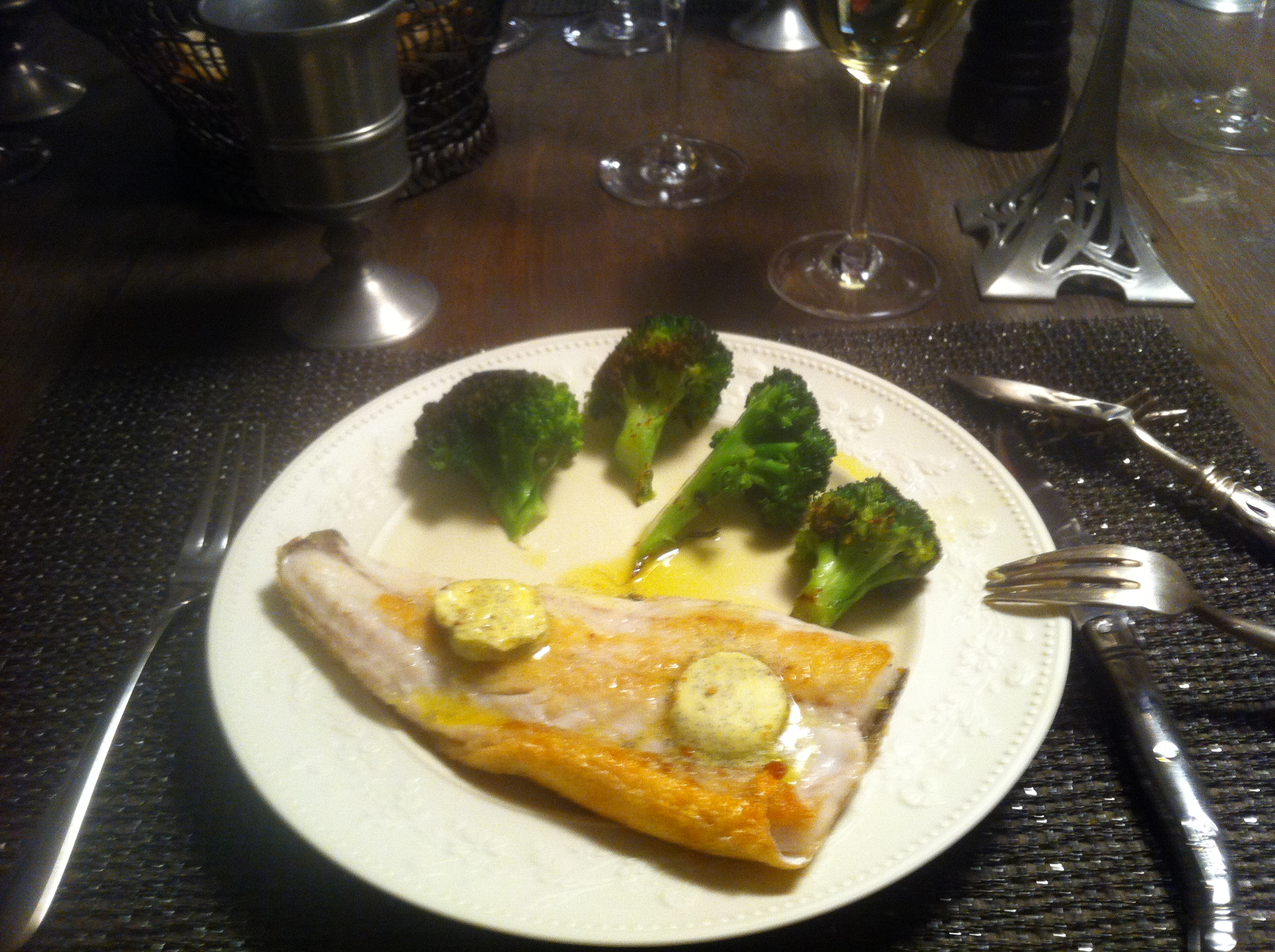 Sea bass with vanilla butter