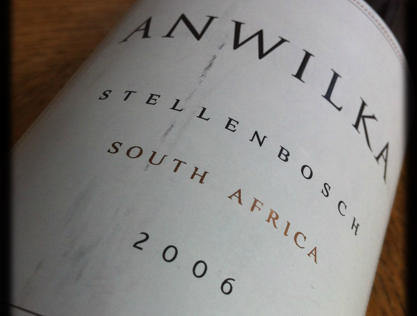 Anwilka, the best South African wine I've tasted by now