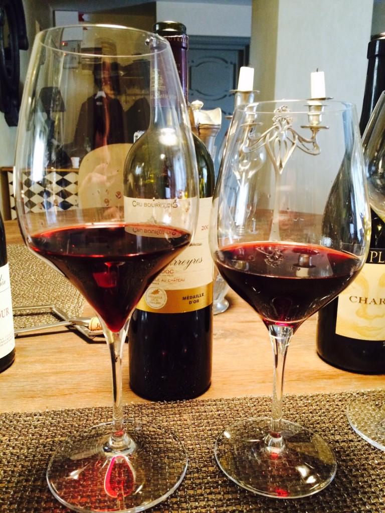 Red Bordeaux glasses