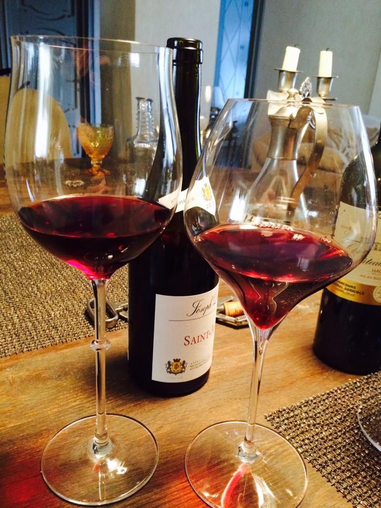 Red Burgundy glasses