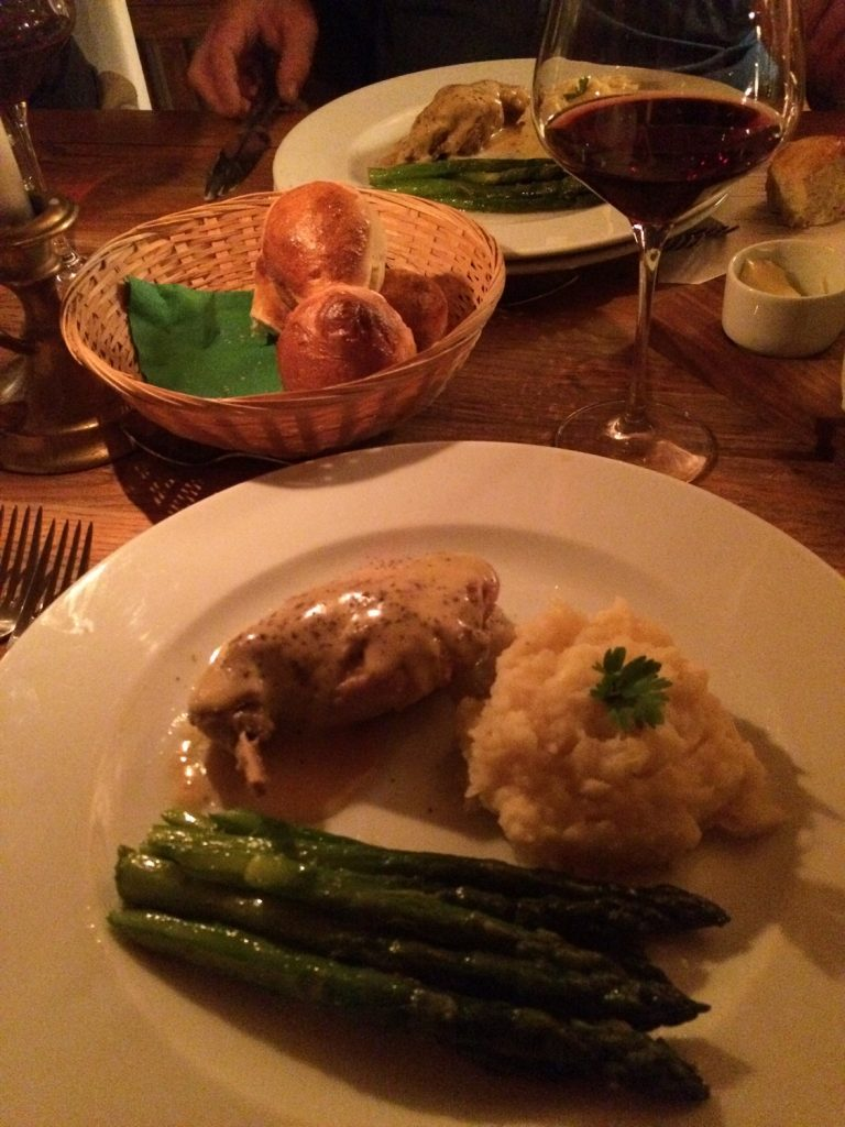 Weekend gateway Transylvania rabbit with asparagus